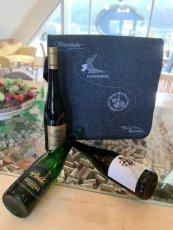 Geschenksidee -  Exklusive Vinea – Umhänge Filz-Tasche mit 3 Fl. Wachauer Wein ***